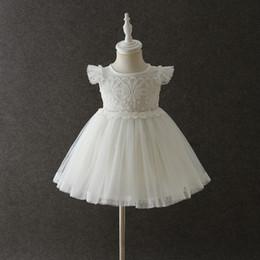 4036a4a3625e5 Robes de naissance nouveau-né pour bébé fille 1 an anniversaire tenue 6 12  18 24 mois enfant en bas âge robe de baptême petite fille été frocks