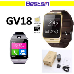 Smart Watch Phone Touch Canada - GV18 NFC Aplus smart watches with Camera Square Touch Screen Smartwatch Phone with SIM Card Slot smart watch for IOS Android