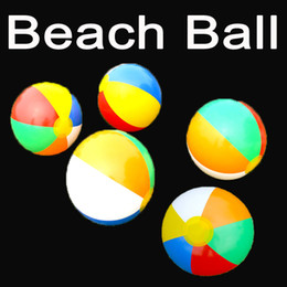Wholesalers Inflatable Pool Canada - Summer Beach Party Favors Swimming Pool Ball Toys Rainbow Inflatable Beach Balls Summer Gift 9 Inch 6 color C152Q