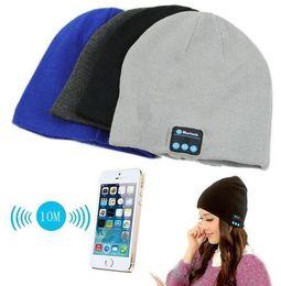 $enCountryForm.capitalKeyWord Australia - Smart phone wireless bluetooth headset cap Christmas Gift Colorful Music Soft Warm Hat With Stereo Headset Speaker Wireless Hands-free Cap