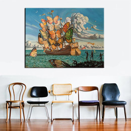 Draw cartoons paint online shopping - Salvador Dali Still life Abstract oil Painting Drawing art Spray Unframed Canvas hand square gemstone action hologram