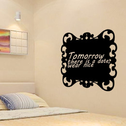 55*60cm Black Chalkboard Wall Stickers DIY Art Decal Removeable Wallpaper  Mural Sticker For Living Room Office
