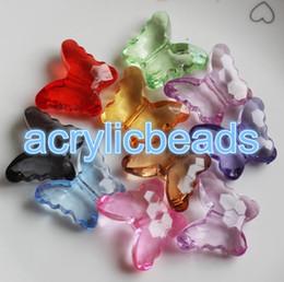 Niedriger Preis 100pcs 8 * 8mm Kristall facettierte transparente Schmetterlings-Distanzscheiben-Korn-klumpige Anhänger-Armband-Halsketten-Vorhang-Herstellung