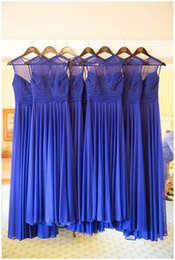 Image Dress Style NZ - A B C 3 Styles Bridesmaid Dresses Real image Wedding guest 2017 Pleated Sleeveless Chiffon Peach Blue Bridesmaids Gowns Under $100
