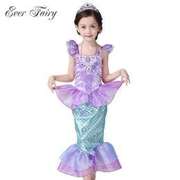 ever fairy children baby girl clothes little mermaid fancy kids girls mermaid dresses princess ariel cosplay halloween costume little kids halloween