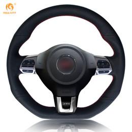 vw passat cc wheels 2019 - Mewant Black Artificial Leather Steering Wheel Cover for Volkswagen Golf 6 GTI MK6 VW Polo GTI Scirocco R Passat CC R-Li