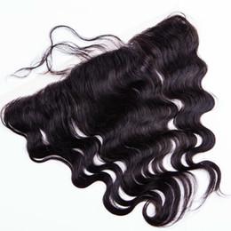 lace frontal closure 13x2 2019 - Brazilian Human Hair body wave lace closure lace frontal 13x2 inch and 13x4 Lace Frontal Closure with baby hair fast shi