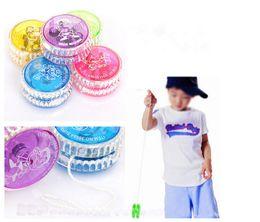 Metal Yoyo For Kids Australia - Luminous Flashing Child Clutch Mechanism Yo-Yo Toys for Kids Party Entertainment Random color 1Pc High Speed YoYo Ball