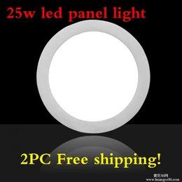 Kitchen Cool NZ - Wholesale- 2pcs lot 25 Watt Round LED Ceiling Light 85-265V,LED Down light Recessed Kitchen Bathroom Lamp Warm White White Cool White