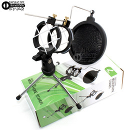 $enCountryForm.capitalKeyWord NZ - Desktop Tripod Folding Dynamic Microphone Stand Windscreen Pop Filter Holder Mike Clamp Shock Mount For Computer Video Recording