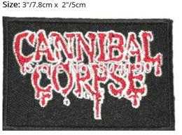 "$enCountryForm.capitalKeyWord NZ - 3"" CANNIBAL CORPSE Drip Logo SKA Heavy Metal Band Music Iron On Sew On Patch Tshirt TRANSFER MOTIF APPLIQUE Rock Punk Badge"