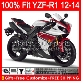 $enCountryForm.capitalKeyWord Canada - gloss white 8gifts Injection For YAMAHA YZF-R1 12 13 14 YZF R1 12-14 96NO103 YZF 1000 YZF R 1 YZF1000 YZFR1 2012 2013 2014 red black Fairing