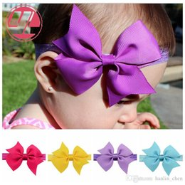Wholesale 2018 Limited New Arrival Mix Color Hair Bows Colors Baby Hair Accessories for Dovetail Polo Ribbon Bow Band Girls Elastic Head Wear