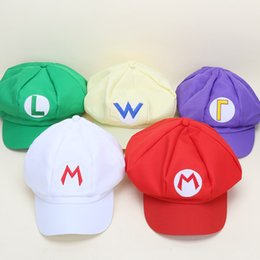 Chinese  2017 New Fashion Super Mario Bros Adult Size Cosplay Baseball Cap Green & Red Women Men Fitted Hats Snapback Cartoon manufacturers