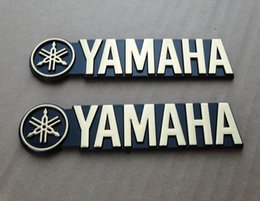 Fuel Tank Motorcycle Sticker Australia - 3D Fuel Oil Tank Badge Fairing Emblems Decal Sticker Gold For Yamaha Motorcycle