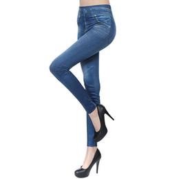 $enCountryForm.capitalKeyWord UK - New 2016 Women Autumn Jeans Leggings Skinny Slim Thin High Elastic Waist Pencil Pants Black Denim Leggings For Women Plus Size H