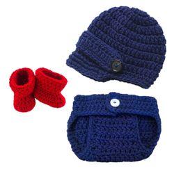 $enCountryForm.capitalKeyWord NZ - Little Man Suit,Newborn Newsboy Costume,Handmade Crochet Baby Boy Newsboy Hat,Diaper Cover,Booties Set,Toddler Infant Photo Props,Baby Gift