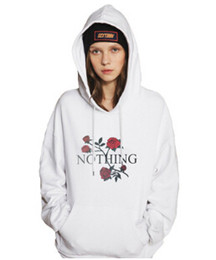 Barato Hoodies Novos Do Outono Para Senhoras-New Hot Autumn Ladies Hoodie Rose Floral Long Sleeved Sweater Letra Printed Women's Sweatshirt