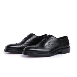 $enCountryForm.capitalKeyWord UK - Top Quality brand Formal Dress Shoes For Men Black Genuine Leather Shoes Pointed Toe Men's Business Oxfords Casual Shoes