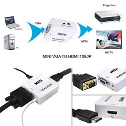 $enCountryForm.capitalKeyWord Canada - Mini HDMI to VGA Converter With Audio HDMI2VGA 1080P Adapter Connector For PC Laptop to HDTV Projector with HDMI2VGA Converter