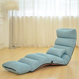 Floor Recliner Single Chair Folding Sofa Bed With Head Waist Feet Adjusting  Set Multiple Fabric Colors Modern Single Sofa Promotion