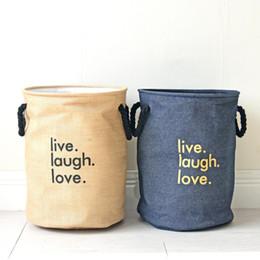 $enCountryForm.capitalKeyWord Canada - Cartoon Folding Laundry Baskets Dirty Clothes Storage Bag Cotton Linen Washing Hamper Baby Toy Storage Basket
