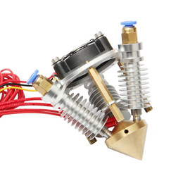 3d printer 3 extruder UK - Freeshipping Multi Color Nozzle 3 IN 1 Out Extruder Mix-Color 0.4mm Hotend for Prusa I3 Rostock CNC 3D Printer Heater Cartridge 40 W 24V