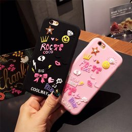 smile soft case Australia - Cartoon Big Bow Beautiful Star Smile Face Flower Soft Silicone Back Shell Cover For iphone 7 7 plus Phone Case