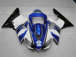 98 r1 fairing blue Australia - Plastic Fairings YZF R1 98 Bodywork for YAMAHA YZFR1 1999 Blue White Black Full Body Kits YZFR1 1998 1998 - 1999
