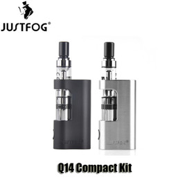 Chinese  100% Original Justfog Q14 Compact Kits 900mAh Variable Voltage Battery Mod 1.8ml 1.6ohm Q14 Tank Atomizer manufacturers