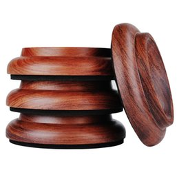 New Hardwood Upright Piano Caster Cups Set Of 4 Real Red Rosewood Furniture  Leg Pads Protection