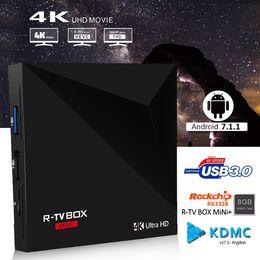 China R-box mini Android tv boxes Rockchip Smart TV Box RK3328 Quad-core 64bit Cortex-A53 Android 7.1 tv box K ODI installed hot selling suppliers