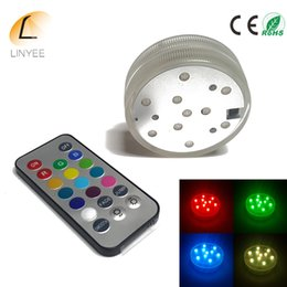 Waterproof Remote Control Light Switch Australia - 100X LED Submersible Candle Remote Control Floral Tea Light Candle Flashing Waterproof Wedding Party Decoration Hookah Shisha Light