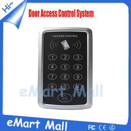 proximity card system 2019 - Wholesale- Security RFID Proximity Entry Door Lock Access Control System 1000 User Keypad Card Access Control Door Opene