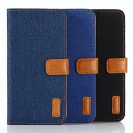 $enCountryForm.capitalKeyWord UK - Leather Wallet Case For Iphone X 5.8'' Jean Cloth Cowboy Fashon Hybrid Hit Color PC Skin ID Card Slot Stand Flip Cover Pouches