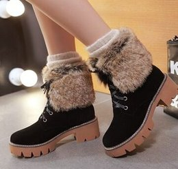 Boots Warm Up Canada - Wholesale New Arrival Hot Sale Specials Super Influx Warm Noble Martin Suede Lace Up Frosted Cotton Casual Ankle Boots EU34-43