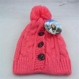$enCountryForm.capitalKeyWord Canada - Beanie Pom Hats New Winter Cap for Women Warm Wool Knit Fashion Hat for Gilrs Jonadab Button Twisted Cap Fashion Accessories DHL Free