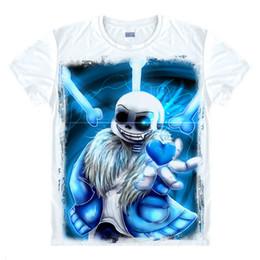 Fancy Long Tops NZ - Wholesale- Fashion Games Undertale Skull Brother Printed T-shirts Fancy T Shirt Short Sleeve Tees O-Neck Men   Women Summer Tops