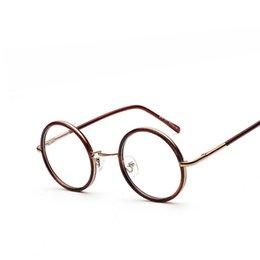 e68db6de65 Wholesale- Vintage Metal Eye Glasses Frames For Women Retro Designer Eyeglasses  Plain Glass Men Round Optical Glasses Frame oculos de grau