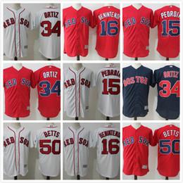 3171ff0d435 ... 2017 best Mens Boston Red Sox 50 Mookie Betts jersey 34 David Ortiz 15  Dustin Pedroia ...