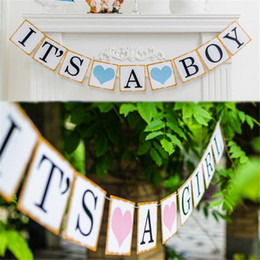 $enCountryForm.capitalKeyWord Canada - Paper Baby Shower Banner Garlands Party Decoration Kids Its A Boy Girl Bunting Photo Booth Props Favors Supplies