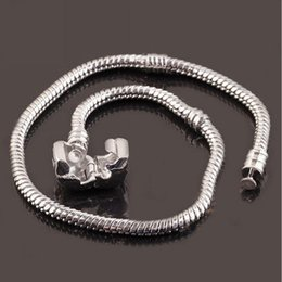 23cm Silver Bracelets Australia - 16 to 23cm 925 Sterling Silver Plated Snake Chain Bracelet Fit European Beads 16cm  17cm   18cm   19cm  20cm  21cm etc