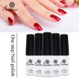 Base Un Gel Uv Pas Cher-Vente en gros Saviland 1pcs Gel Nail Polish 3 en 1 Sans Top Base Coat Nails Gel Professional One Step Soak Off UV Gel Rarnishes