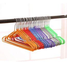 Hanger Clothes Save Space Australia - Colorful High Quality Thick PVC Coated Metal Clothes Hanger, Space Saving Non Slip Shirts Dress Coats Hangers Rack (30 Pcs Lot)