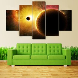 $enCountryForm.capitalKeyWord Canada - 5 Piece Canvas Art Painting Galaxy Planet Universe Paintings for Kids room Home Wall Decor Drop shipping