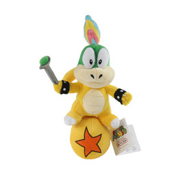 "lemmy koopa toys Canada - Hot New 10"" 25CM Super Mario Bros Koopa Lemmy Standing Ball Plush Doll Anime Collectible Dolls Stuffed Party Gifts Soft Toys"