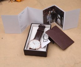 Горячие мужские роскошные женщины коричневый подарок кожа Спорт кварцевые лучшие наручные часы с роскошной подарочной коробке мода корабль