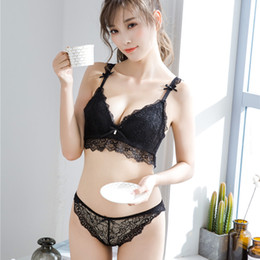 6951310c404 Full lace bralette young girls small thin cup sexy underwear sets push up  bra and panty women bra   brief sets wireless lingerie