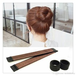 $enCountryForm.capitalKeyWord Australia - Magic Hair Bun Maker Kit Hair Styling Tools Bow Tie Girl DIY Donut Former Hair Bows French Twist Bun Maker Kit Free Shipping