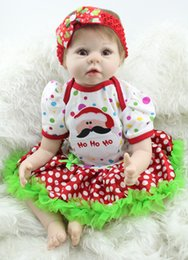 $enCountryForm.capitalKeyWord NZ - Recycling Doll Toy Gift Handmade Lifelike Baby Boy Girl Doll Silicone Vinyl Reborn Newborn Dolls 22''